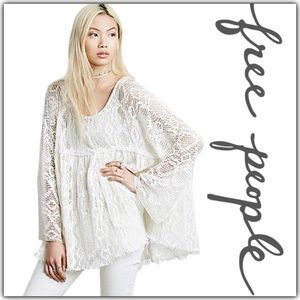 NWT Free People Ripped and Torn Babydoll Tunic